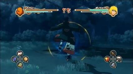 Naruto Shippuden Ultimate Ninja Storm 2 Tobi vs Minato