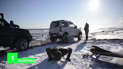 Extreme sporting in frozen Siberia
