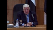 """Syria: Discussion on Assad's presidential status a """"red line"""" - Muallem"""