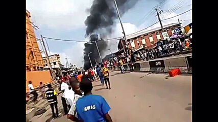 Nigeria: Police station set ablaze as protests lead to Lagos curfew