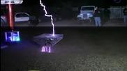 Quadrotor vs. Tesla Coil
