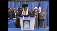 Iran: Ayatollah Khamenei casts vote as parliamentary elections kick off
