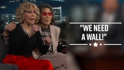 Jane Fonda gives rousing political speech on Jimmy Kimmel