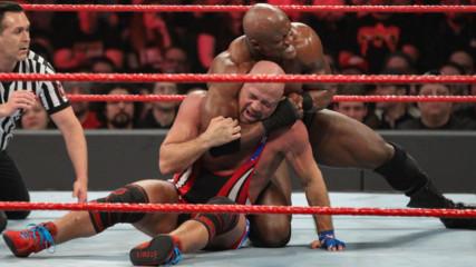 Braun Strowman, Finn Bálor & Kurt Angle vs. Drew McIntyre, Baron Corbin & Bobby Lashley: Raw, Feb. 11, 2019