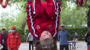 You spin me right round Beijing - pensioners show off peak fitness and gymnastic skills