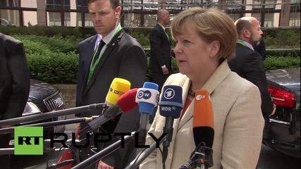 Белгия: Спасяването на животи е приоритет, казва Меркел
