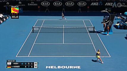 2018 Australian Open R4 Su-wei Hsieh vs Angelique Kerber