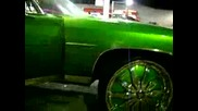 Candy green Chevy Donk on 26 quot; dub famous floaters - Kand