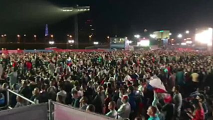 Russia: Fans all over Russia celebrate as national team beat Egypt