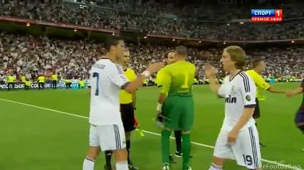 Меси навежда глава на Роналдо и двамата не се ръкостискат