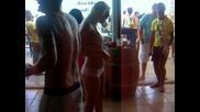 Ibiza..hot girl dancing in Bora Bora (ibiza)