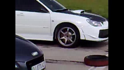 Subaru Sti срещу Audi R8