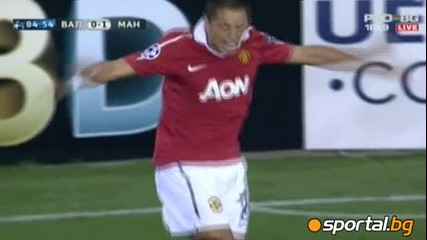 Valencia vs Man Utd 0 - 1 29.09.2010 Chicharito Goal