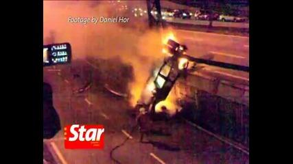 Two burnt alive after car crash