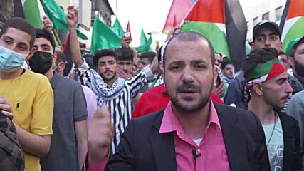 Jordan: Large crowd rallies in support of Palestine