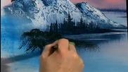 S12 Радостта на живописта с Bob Ross E12 - планина в овал ღобучение в рисуване, живописღ
