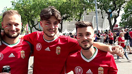 Hungary: Thousands of football fans march through Budapest ahead of Portugal match