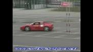 Ferrari 355 & Porsche Gt3 donuts and burnouts