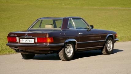 mercedes benz 280 sl r107 roadster brown 1982 1