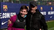 Лео Меси с феноменално изпълнение по време на тренировка