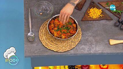 Рецептите днес: Запечатани сладки картофи с телешко и чедър и Сладко-солени палачинки с рикота