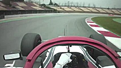 Ф1 - Кими Райконен прави тестова обиколка на пистата Каталуния