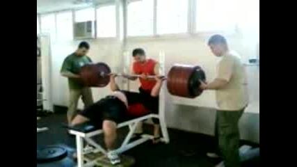 Краси Митев - На Тренировка 300 Кг Лег!