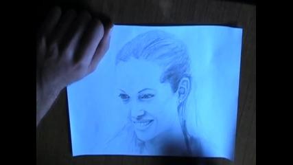 Една известна личност, нарисувана с молив