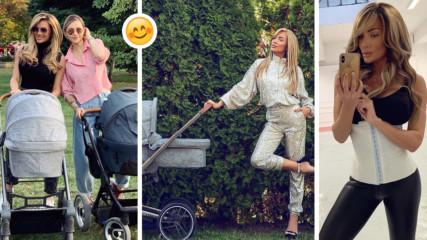 Златка Райкова разходи бебето и е в топ форма - месец след раждането! Каква е тайната ѝ?