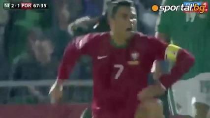 Хеттрик на Кристиано Роналдо! Северна Ирландия - Португалия - 2:4 ! *06.09.2013г.*