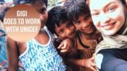 Джиджи Хадит прекара малко време в Бангладеш