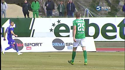 Мантека откри резултата с първия си гол за Берое