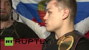Russia: The 'Surgeon' celebrates with new WBA super middleweight champ Chudinov