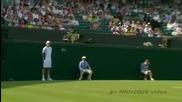 Wimbledon 2009 : Хаас играе с децата,  които подават топите