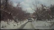 Subaru Outback не се справя на сняг