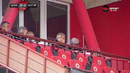Гриша Ганчев се любува на играта от ЦСКА