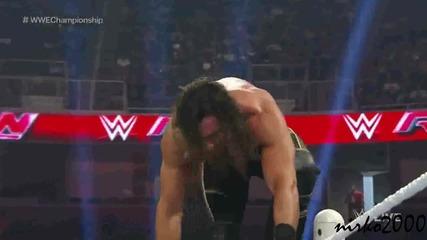 Neville vs Seth Rollins Wwe World Heavyweight Championship match:raw 03 August 2015