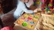 Бабина умница с умна главица на 1 година и 11 месеца