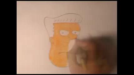 Рисуване на Rainier Wolfcastle (герой от Семейство Симпън)