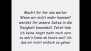 Tokio Hotel - Wir Sterben Niemals Aus(s Text