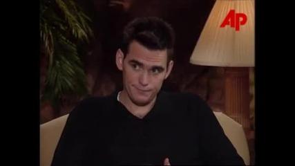 Звездата Мат Дилън дава интервю за филма си Лудории (1998)