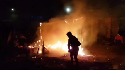 France: Another fire breaks out at Calais refugee camp