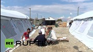 Macedonia: UNHCR look after refugees and migrants crossing from Greece