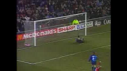 Eric Kantona Gerat Goal Vs Arsenal