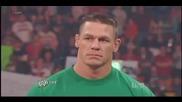 Острието се завръща и говори с Джон Сина - Raw 23.04.12