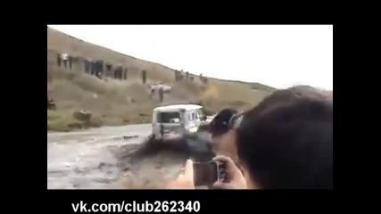 Там където се удави камион, легендарният Уаз мина безпроблемно