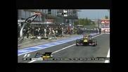 """Блъснатият от гума в """"Гран при"""" на Германия оператор с редица травми"""