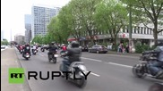 Germany: Hundreds of bikers ride through Berlin to protest against intolerance