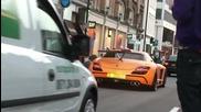 Оранжево Sls Amg в Лондон