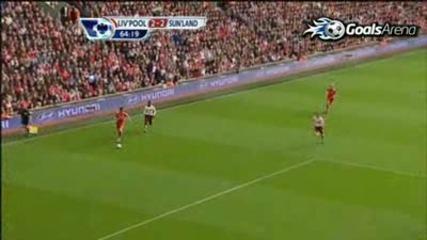 25.09.2010 Liverpool 2 - 2 Sunderland Steven Gerrard goal : ) )